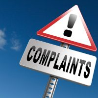 Complaints at customers service fill in complaint form and leave