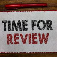 Text sign showing Time For Review. Conceptual photo Evaluation Feedback Moment Performance Rate Assess Red bordered white page centered some texts wooden desk pen pencil.