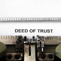 Close up of typewriter and Deed of trust